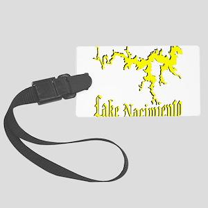 LAKE NACIMIENTO [4 yellow] Large Luggage Tag
